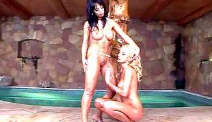 Lesbian heels, Lesbian pool, Beautiful lesbian, High heels lesbian