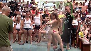 Nudist, Wetting, Contest, Wet