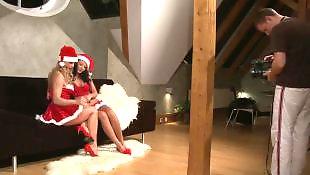 Mature lesbian, Lesbian seduce, Mature, Christmas