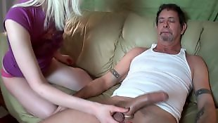 Handjob big cock tube
