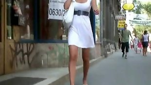 Upskirt, Voyeur, White, Upskirts, Dressing, Dress