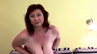 Czech, Mature, Huge, Huge boobs, Hanging, Czech mature