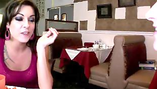 Chinese, Seducing, Threesome lesbian, Aletta ocean, Restaurant, Seduce lesbian
