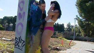 Big tits, Public handjob, Julia, Big tits handjob, Big ass latina