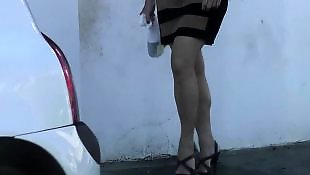 Heels, Candid, Voyeur, Foot fetish, Street, French