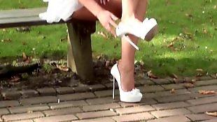 High heels, Upskirt, Heels