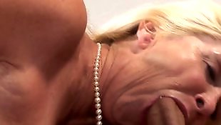 Gilf, Cream, Swallow, Granny blowjob, Cum swallow, Granny cum