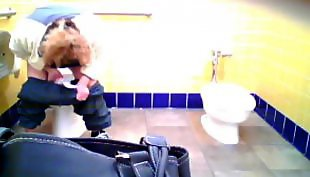Toilet, Hairy, Mother, Latin, Voyeur, Toilet voyeur