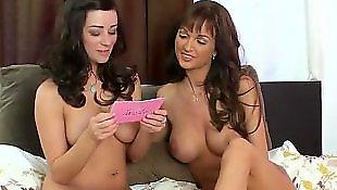 Busty lesbians, Lesbian nipples, Curly hair