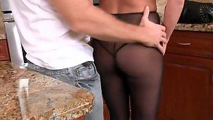 Doggystyle, Oral, Stocking handjob, White stockings, Big tits, Asslicking