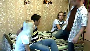 Group, Teen sex, Teens, Watching, Guy, Teen fuck