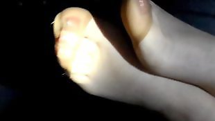 Stockings footjob, Foot fetish, Stocking footjob, Amateur stockings, Close up, Stockings