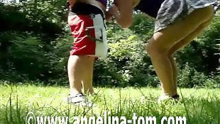Public, German blowjob, Outdoor, Couple, Voyeur, Public blowjob