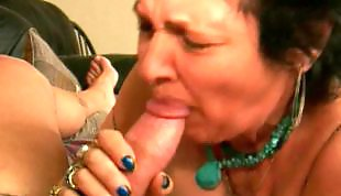 Mature blowjob, Granny blowjob, Granny facial, Mature facial, Granny, Mature