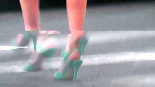 Heels, Mature heels, French mature, Mature, Voyeur, Amateur mature