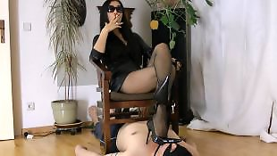 Mistress, Smoking, Asian stockings, Asian, Asian foot, Mistress t
