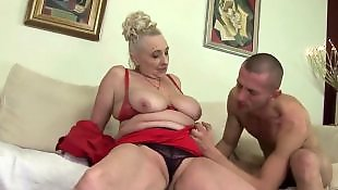 Mature, Granny, Short hair, Mature blowjob, Granny blowjob, Christmas