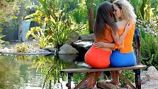 Teen lesbian, Outdoor, Lesbian outdoor