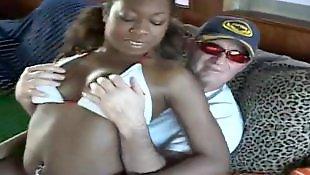Ebony threesome, Ebony masturbation