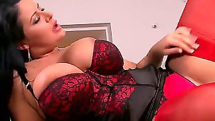 Busty lesbians, Groping, Lace