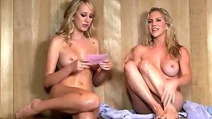 Lesbian orgy, Sauna, Lesbian sauna