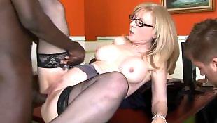 Nina hartley, Office, Milf interracial, Secretary, Nina, Office sex