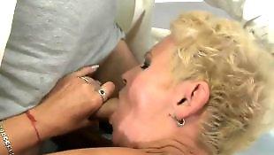 Granny, Granny masturbating, Doctor, Hairy blonde, Hairy pussy, Granny fuck