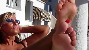 Foot fetish, Voyeur, Feet, Mature feet, Mature, German