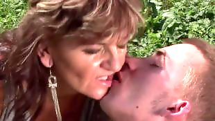 Mature, Old and young, Mature blowjob, Granny, Mature outdoor, Granny outdoor