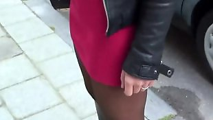 Pantyhose, Upskirt, Teen pantyhose, Nudist, Street, Teen stocking