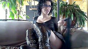 Leather, Webcam, Kinky, Webcam masturbation
