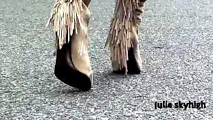 Upskirt, Boots, Teasing, Tease, Cute, Teen tease