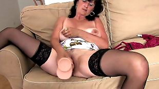 Milf dildo, Dildo mature, Saggy, Stocking dildo, Stockings dildo, Granny dildo
