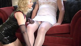Crossdresser, Milf stockings, Stocking handjob, Crossdress, Milf handjob, Stockings handjob
