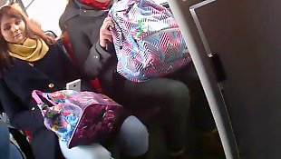 Public, Bus, Amateur, Flashing, Flash, Nudist