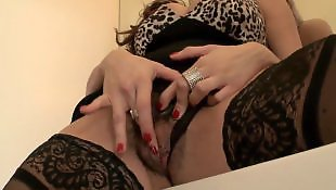 Stockings masturbating, Solo stocking, Hairy solo, Milf solo, Hairy stockings, Caught