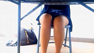 Upskirt, Legs, Leggings, Voyeur, Teasing, Leg