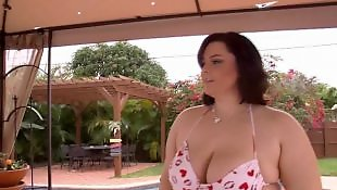 Melons, Pool, Huge, Huge boobs, Huge facial