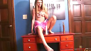 Teens masturbation, Desk