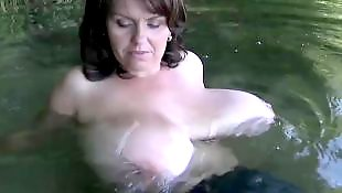 Big tits, German, Nipple, Nipples, German milf, Big nipples
