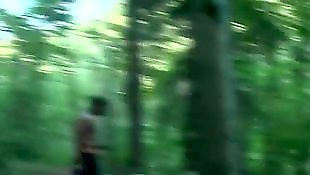 Walking, Russian teen, Forest