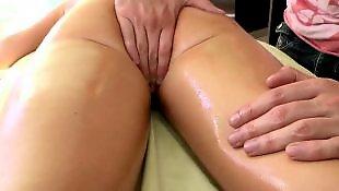 Oil, Beautiful, Leggings, Pussy massage, Massage, Long legs