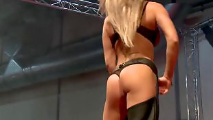 Strippers, Stage, Oil, Stripper, Oiled, On stage