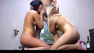 Threesome, Cumshot, Group, Threesomes, Threesome blowjob
