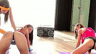 Pussy gaping, Lesbian fisting, Malena morgan, Mischa brooks