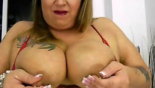 Huge cock, Huge boobs, Bbw blowjob