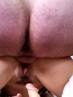 Крупный план двойное проникновение, Оргазм крупным планом
