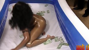 Black teen, Ebony teen, Oil, Strippers, Show, Party