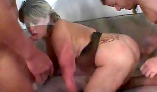 Anus, Big tits, Big dick, Threesome blowjob, Big tits threesome, Anal young