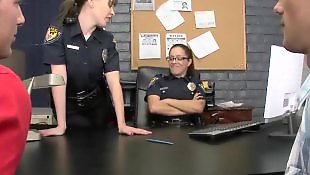 Francesca le, Police, Boys, Glasses, Uniform, Office